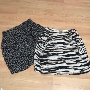 Two x 1 H&M skirts